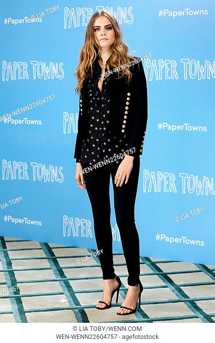 Paper Towns UK photocall - Arrivals Featuring: Cara Delevingne Where: London, United Kingdom When: 18 Jun 2015 Credit: Lia Toby/WENN.com