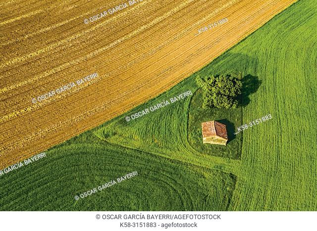 Colorful farmlands, Navarre, Spain