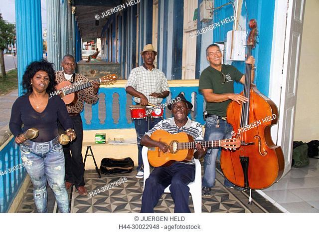 Aldo de Rio, famous Son Musician with band, Vinales, Pinar del Rio