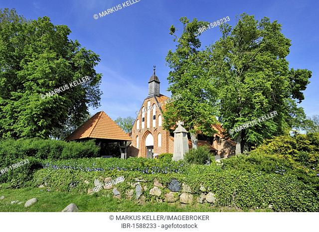St.-Marien-Kirche church in Waase on Ummanz island, Ruegen district, Mecklenburg-Western Pomerania, Germany, Europe