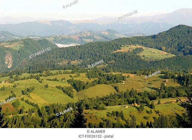 Romania, Carpathian Mountains landscape