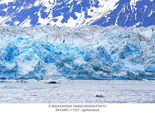 Iceberg near Hubbard glacier; The longest tidewater glacier in Alaska ; Saint Elias  national park ; Disenchantment bay ; Alaska ; U.S.A