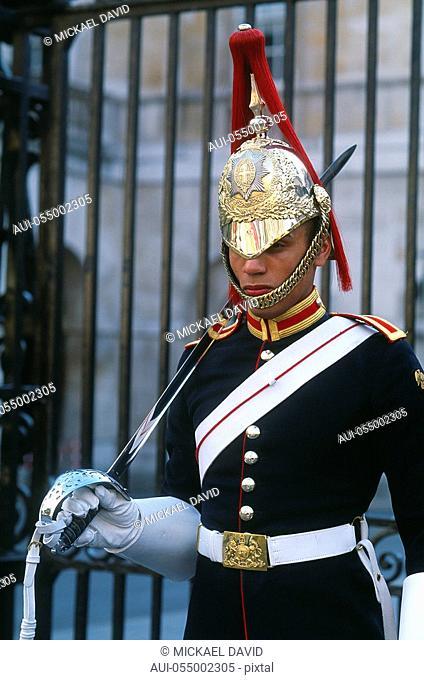 England - London - St James's district - Whitehall - guard