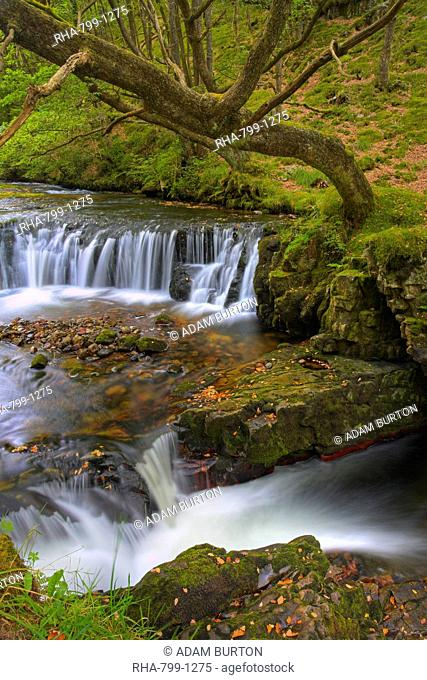 Horsehoe Falls in the Brecon Beacons National Park, Powys, Wales, United Kingdom, Europe