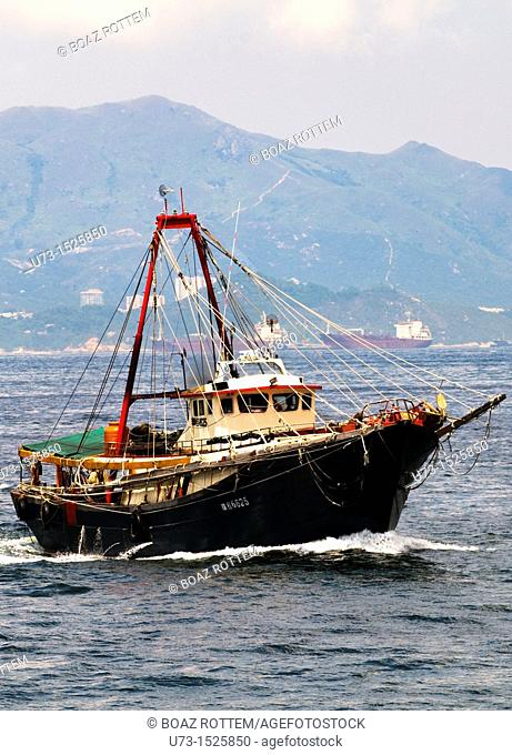 A Chinese fishing ship in the South China Sea
