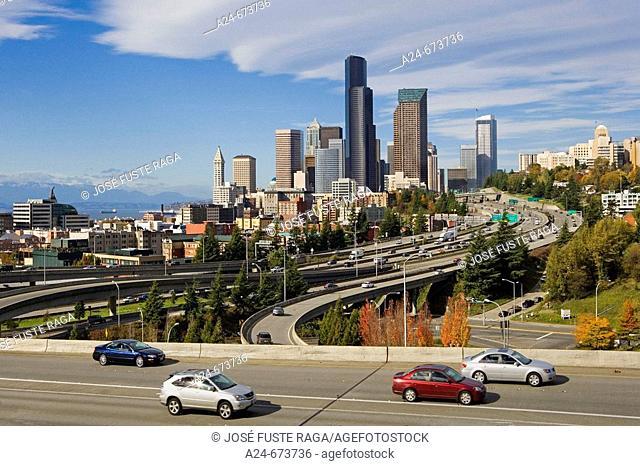 Oct. 2007. USA. Washington State. Seattle City. Downtown