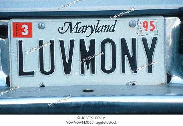 Vanity License Plate - Maryland