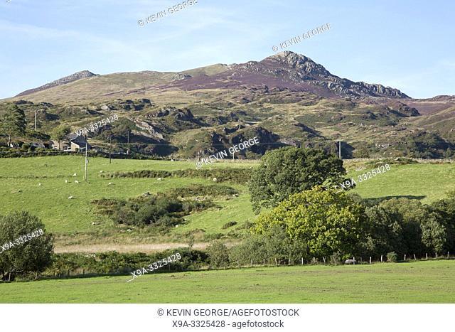 Mountain Peak at Capel Curig, Snowdonia, Wales, UK