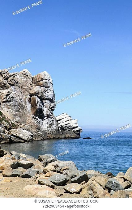 Morro Rock, Morro Bay, San Luis Obispo County, California, United States, North America