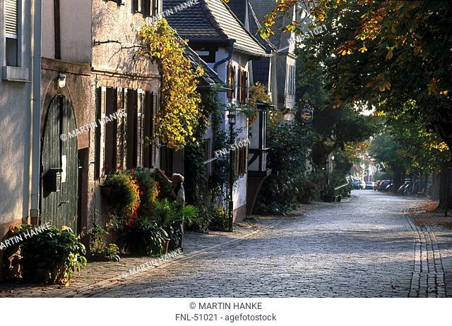 Narrow lane with cobblestones, Germany