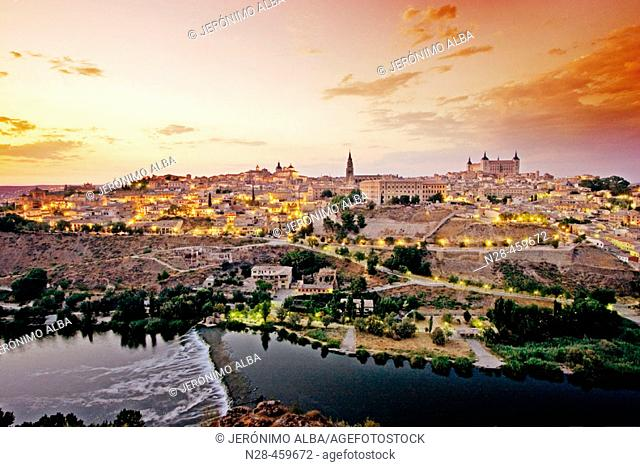 Toledo in the evening. Castilla-La Mancha, Spain