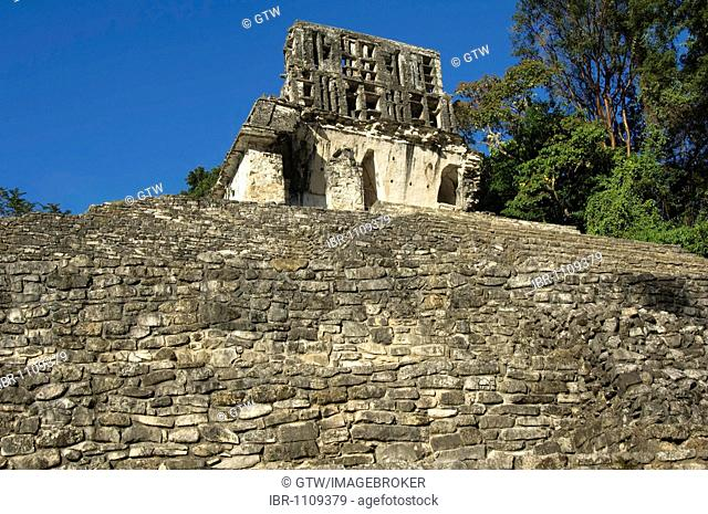 Palenque, UNESCO World Heritage Site, Templo de la Cruz, Temple of the Cross, Yucatan, Mexico