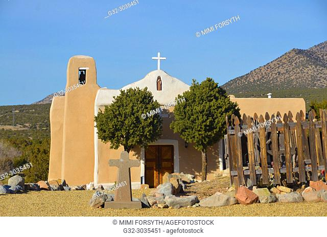 San Francisco de Asis church, Golden, New Mexico, built 1839