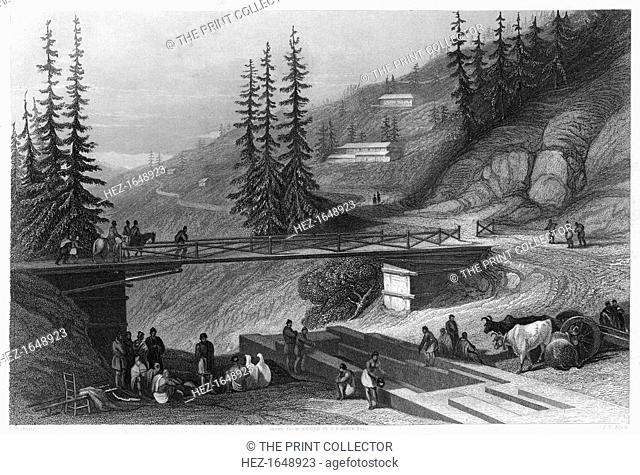 Simla, India, c1860. A favorite resort for invalids of the British army. The Indian Rebellion of 1857 began in the town of Meerut and soon erupted into other...