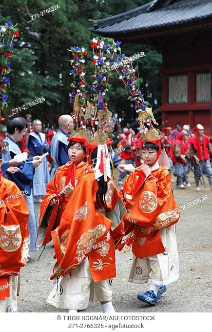 Japan, Nikko, festival, parade, people,