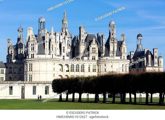 France, Loir et Cher, Loire Valley, listed as World Heritage by UNESCO, Chateau de Chambord