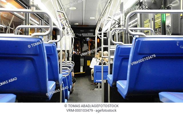 MTA public transportation bus, 5th Avenue, New York City, New York, USA