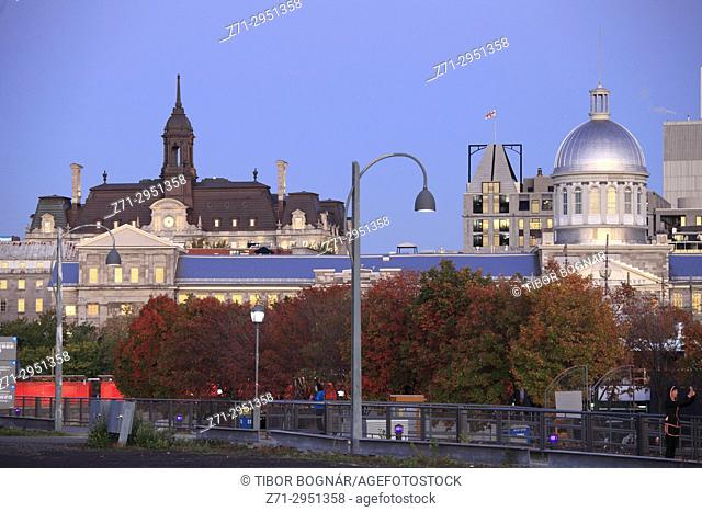 Canada, Quebec, Montreal, City Hall, Bonsecours Market, Vieux Port,