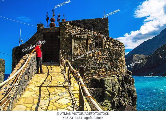 historical castle in Vallehermoso municipality. La Gomera island