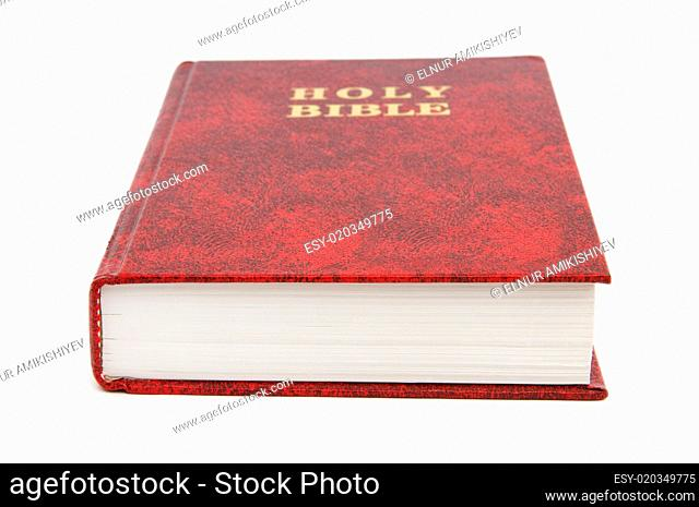 Bible book isolated on the white background