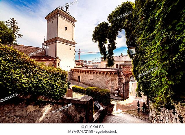 The beautiful city of Udine in a spring afternoon, Udine province, Friuli Venezia-Giulia, Italy