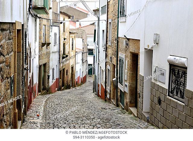 Pedestrian street of Idanha-a-Nova, Castelo Branco, Portugal