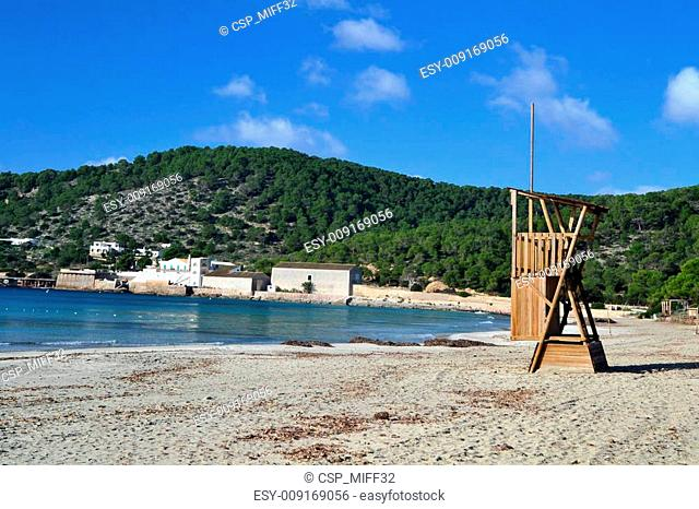 Ses Salines beach in Ibiza, Spain