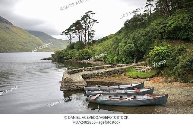 Doo lough, Doolough, Delphi valley, county Mayo, Ireland, Europe