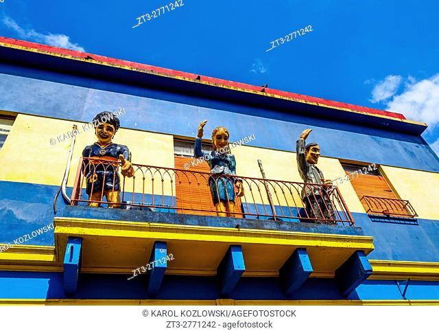 Argentina, Buenos Aires Province, City of Buenos Aires, View of the colourful La Boca Neighbourhood