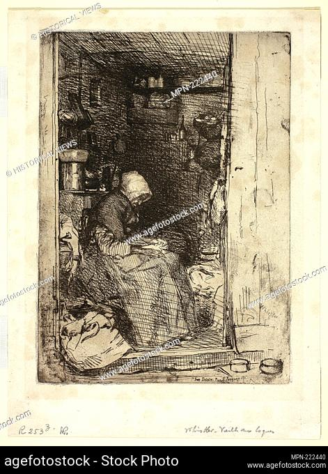 La Vieille aux Loques (The Old Woman with Rags) - 1858 - James McNeill Whistler American, 1834-1903 - Artist: James McNeill Whistler, Origin: United States