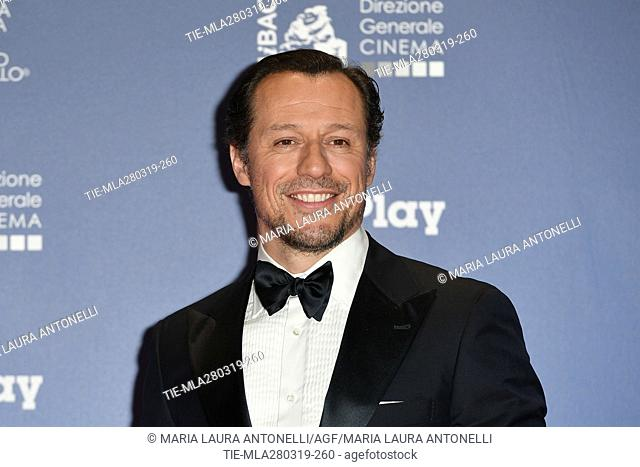 Stefano Accorsi during the David di Donatello Award red carpet, Rome, ITALY-27-03.2019