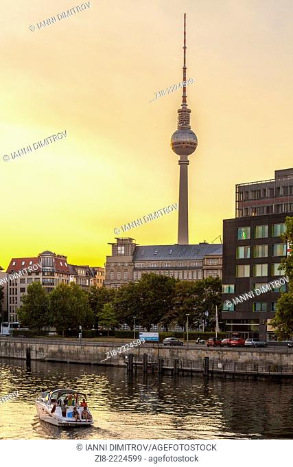 Sunset at JannowitzBrucke,Berlin,Germany