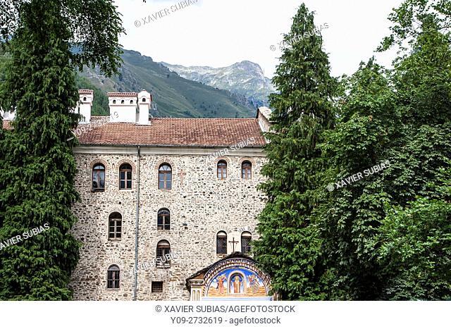 Entrance, Monastery of Saint John of Rila, Rila Mountains, Bulgaria