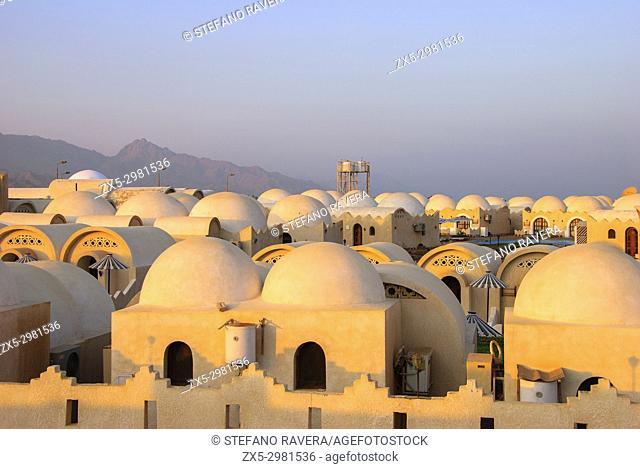 Spheric roofs of a resort - Dahab, Sinai Peninsula, Egypt