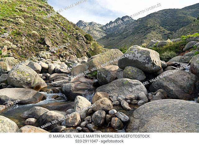 Chilla gorge in the Sierra de Gredos. Avila. Castilla Leon. Spain. Europe