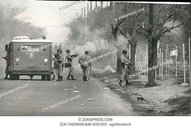 Jun. 06, 1969 - Very serious Riots in Cordoba and other Argentine cities: Cordoba: Several demonstrators died and hundreds of arrests were taken by the police...