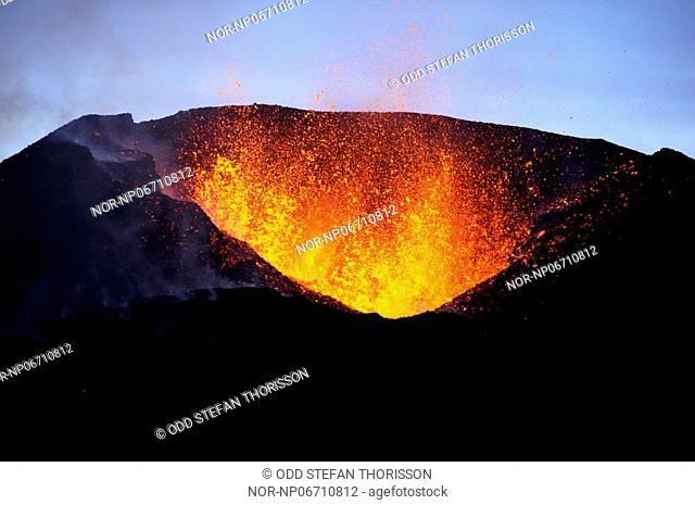 Volcanic eruption in South Iceland, image shot 7. April 2010