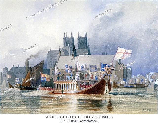 'Arrival of the Lord Mayor at Westminster', c1841(?)