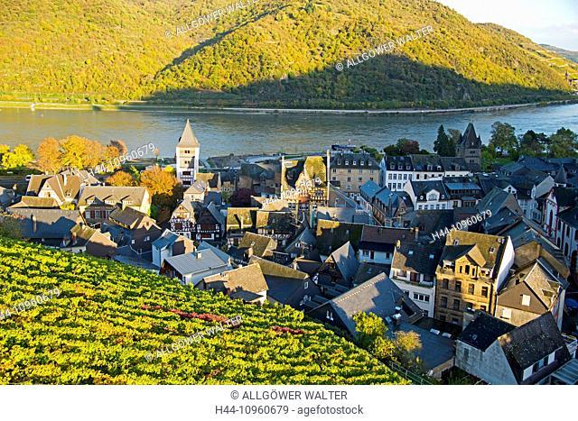 Old Town, Bacharach, Germany, Europe, Rhine Valley, superior, Palatinate, Rhineland, UNESCO, world heritage, wine-growing