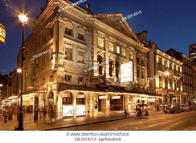"""""""Noel Coward Theatre"""" at night, St.Martin's street,London, England"