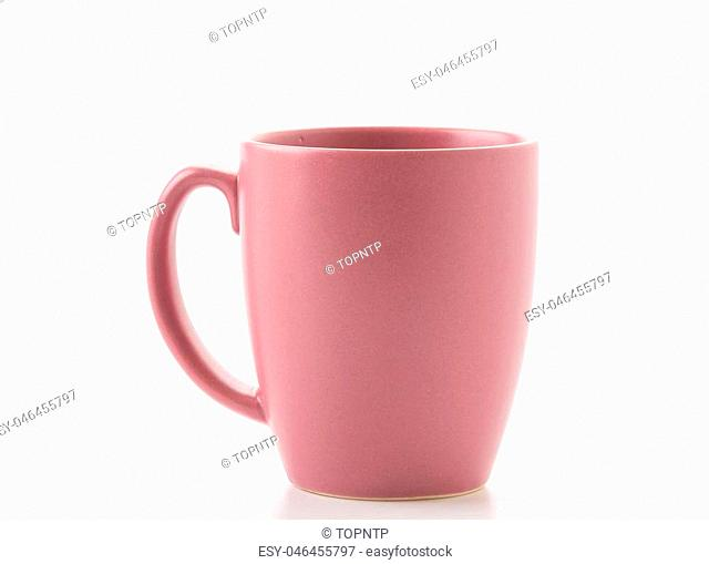 empty cup of coffee or mug on white background