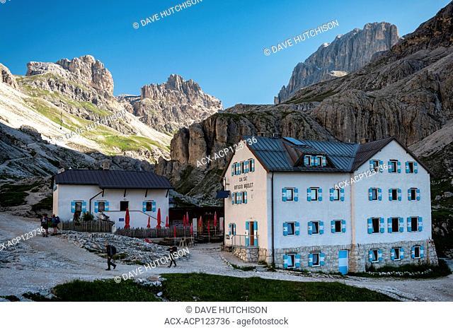 Rifugio Vajolet,Torri del Vajolet / Vajolet Towers, Dolomites, Northern Italy (Pera di Fassa)