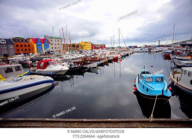 Port of Tórshavn, capital of The Faroe Islands