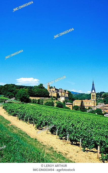 France, Rhone Alpes, Jarnioux, village