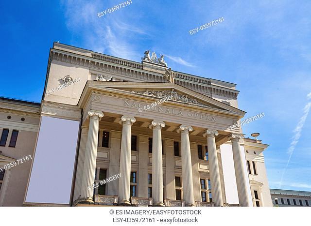 The National Opera House (Latvian National Opera) in Riga, Latvia