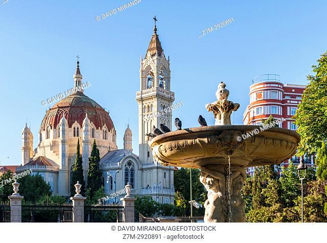 Iglesia de San Manuel y San Benito from parque de El Retiro. Madrid. Spain