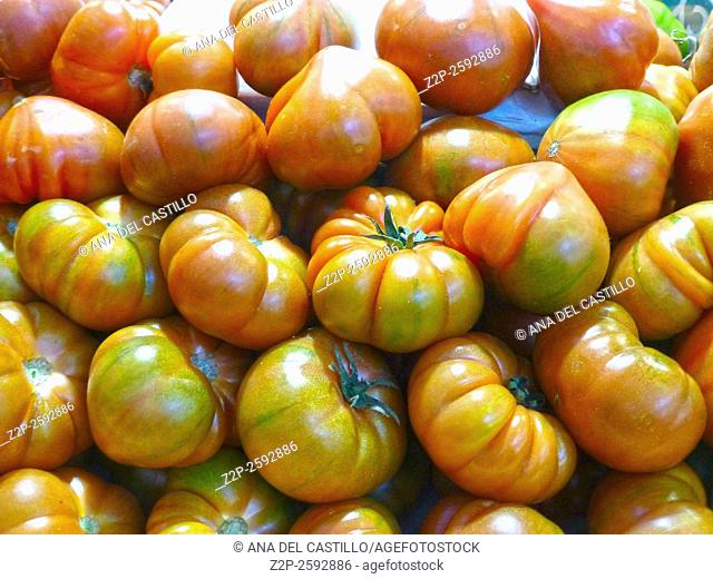 Tomatoes at the market Denia Spain
