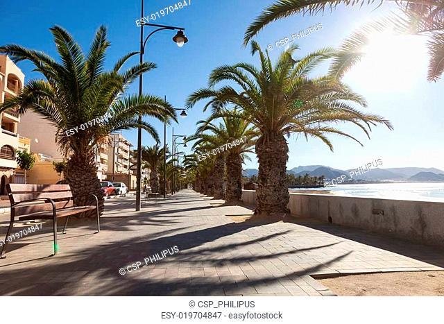 Promenade in Puerto de Mazarron, Spain