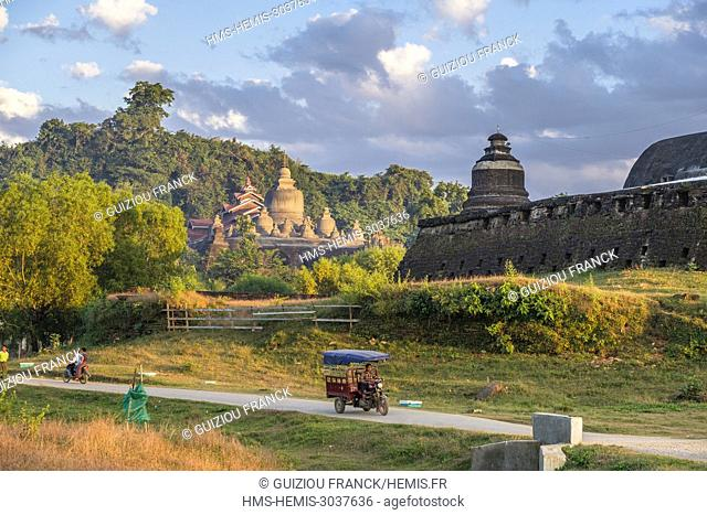 Myanmar (Burma), Rakhine state (or Arakan state), archeological site of Mrauk U, ancient capital of Rakhine from the 15th to 18th century known as the Golden...