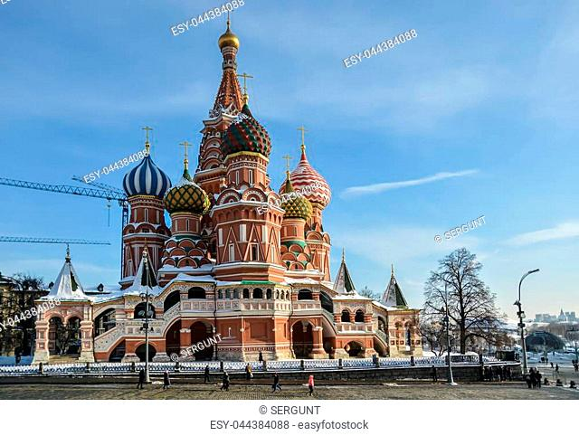 St. Basil's Cathedral. The main temple on red Square in Moscow
